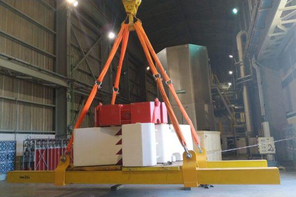 vigas y placas para pruebas de carga
